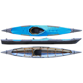 Pakboats Quest 150 Kayak incl. Cubierta, black/blue
